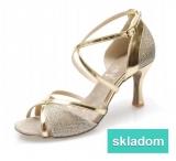 2679fc340f821 Tanečné topánky ARTIS - DL-49 is zlaté 5 cm flare