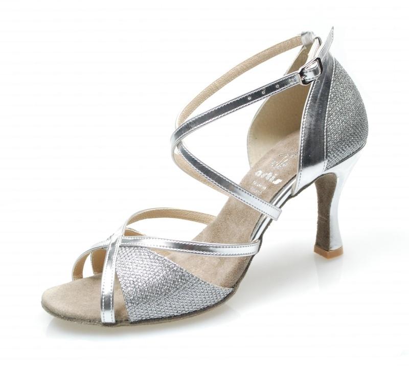 32ea45faa104 Dámske tanečné topánky ARTIS - DL-49S strieborné 7 cm Flare