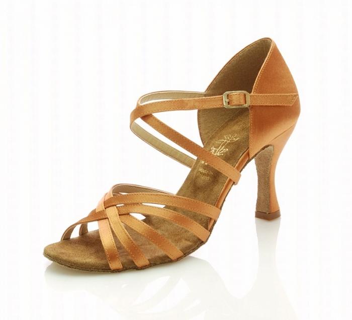 b727295b22a40 Dámske tanečné topánky ARTIS - DL-2S telová 7 cm Flare