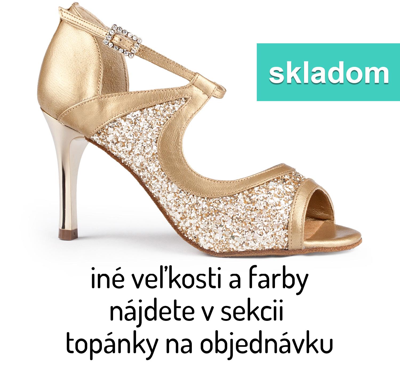 cf9238e6b5 Tanečné topánky PORTDANCE - PD504 is TANGO zlaté
