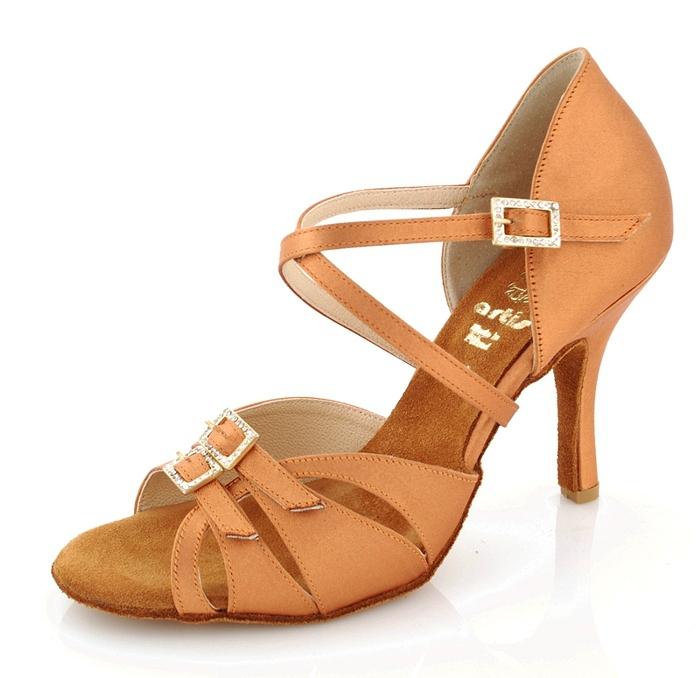 Tanečné topánky ARTIS - DL-35 is telové 7 cm flare empty d4a3a060946