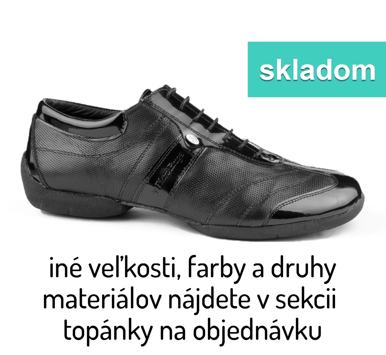 Tanečné topánky PORTDANCE - PD Pietro Street is čierne lesklé ... ac16249da3c
