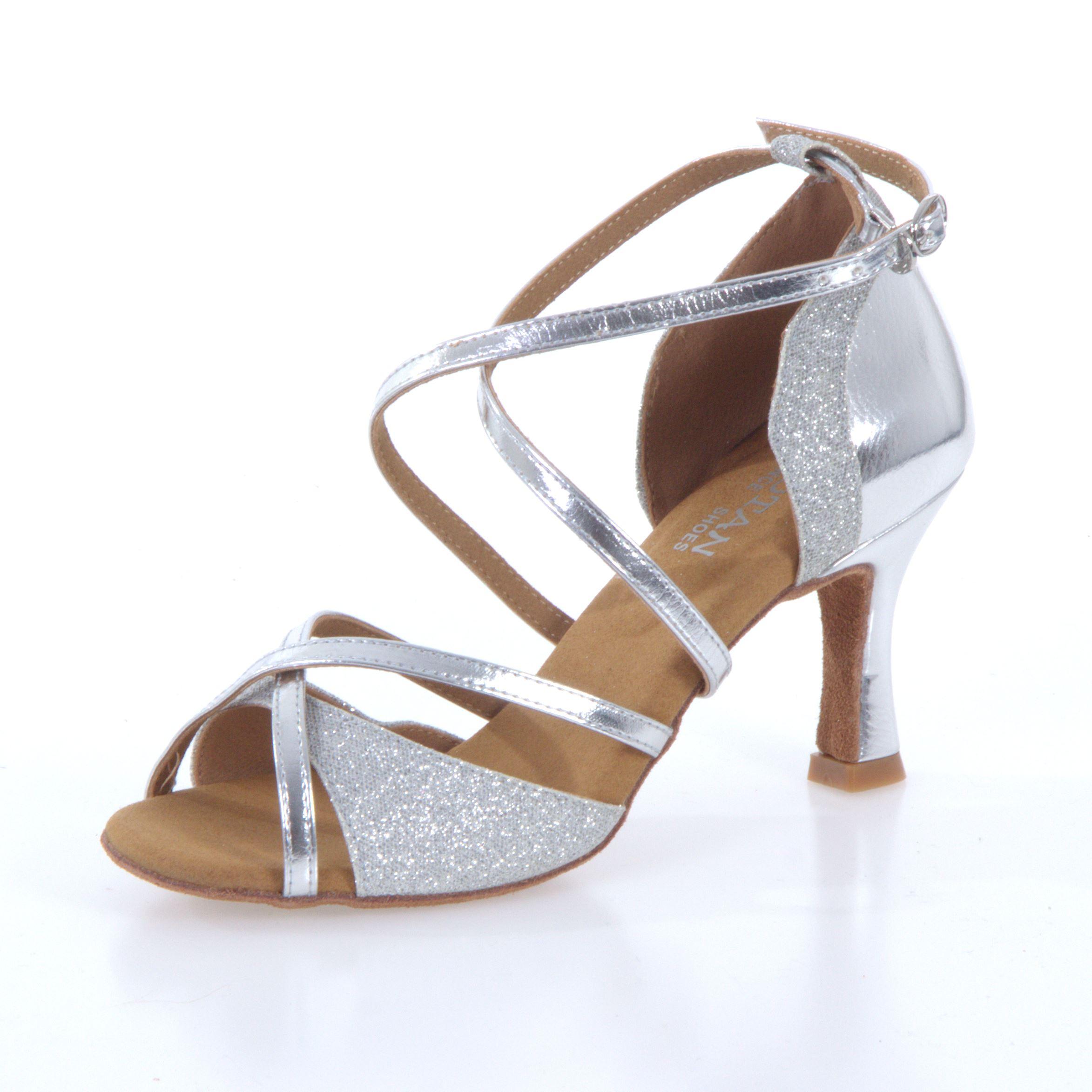 22e0e417a9d1 Tanečné topánky Botan BL-49 is strieborná 7