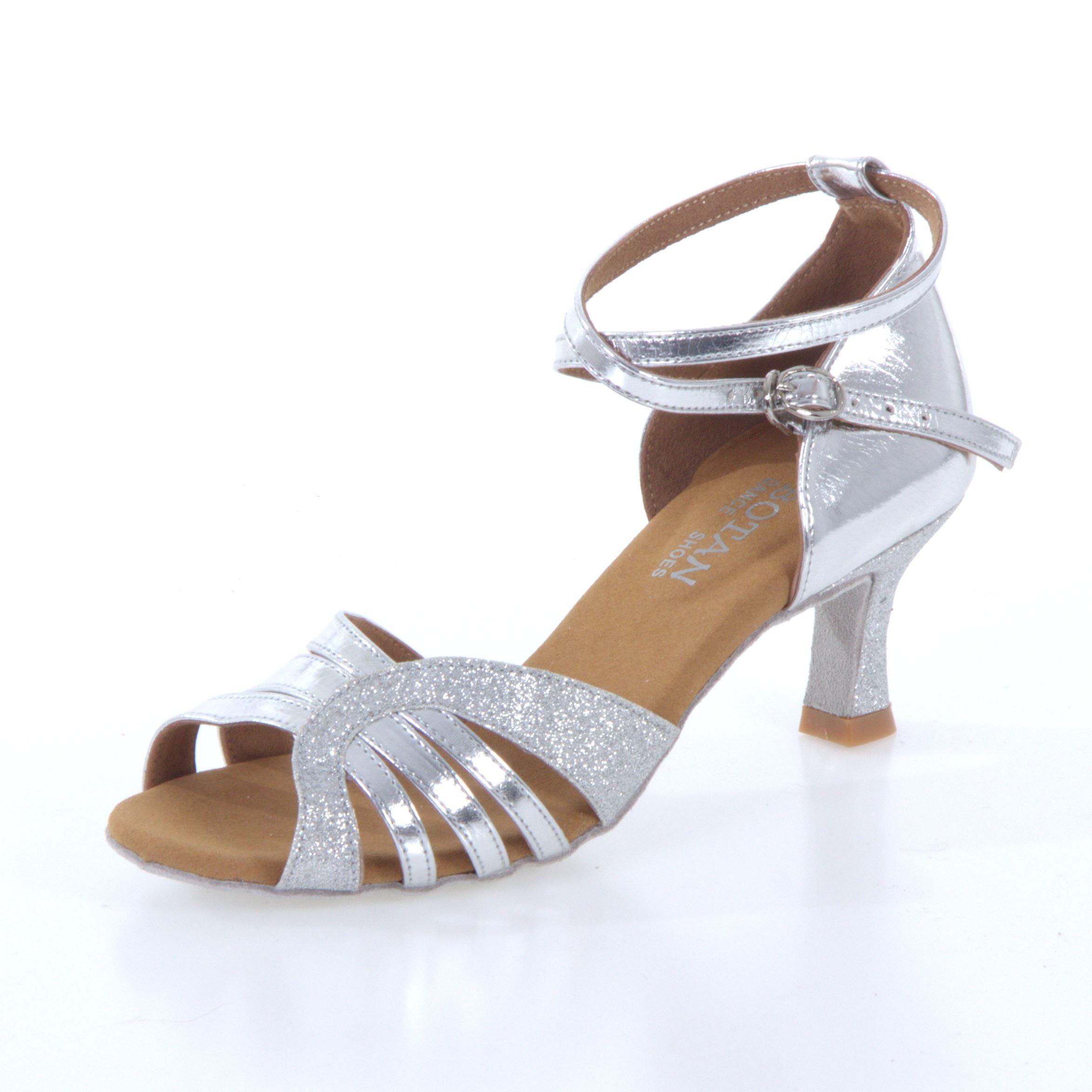 7be8f0e78b Dámske tanečné topánky Botan BL-14S strieborné