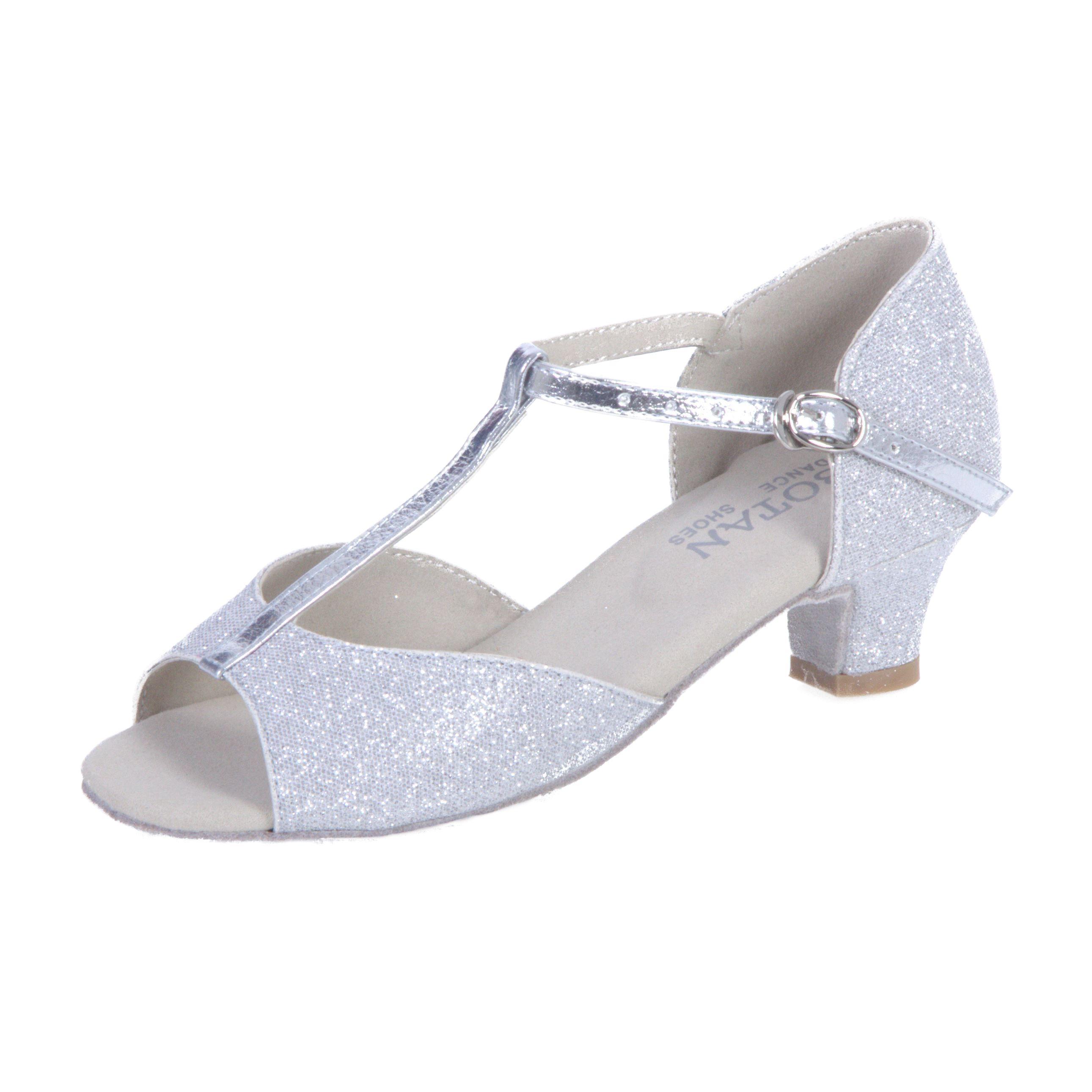 835b7945fe63 Dievčenské tanečné topánky BOTAN BD-2-S strieborné