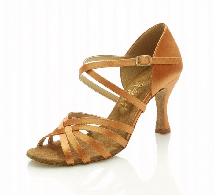 a4c9529f44b75 Dámske tanečné topánky ARTIS - DL-2S telová 7 cm Flare