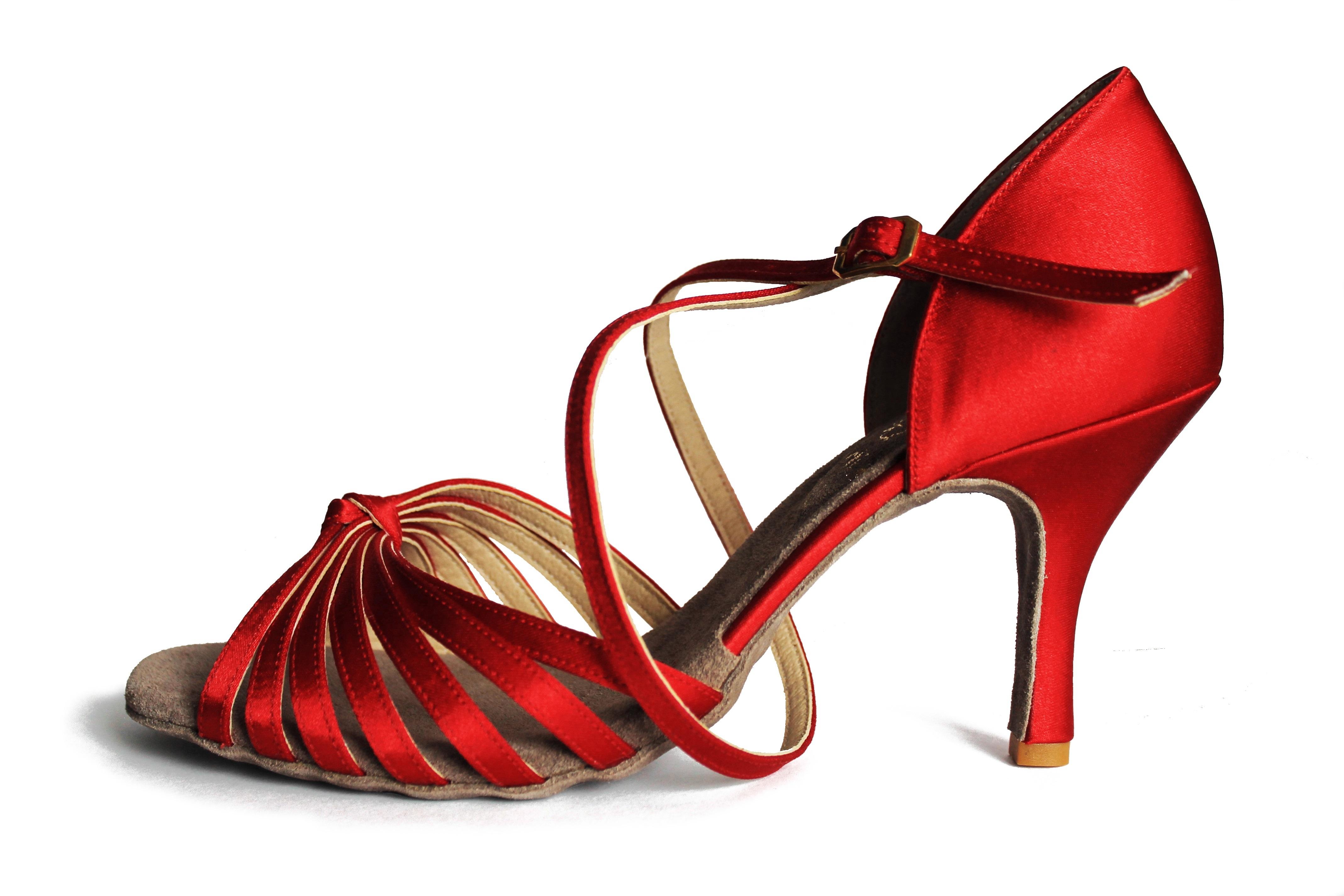 9e9c61fc21ddc Tanečné topánky ARTIS - DL-9/7 is červené 8 cm slim