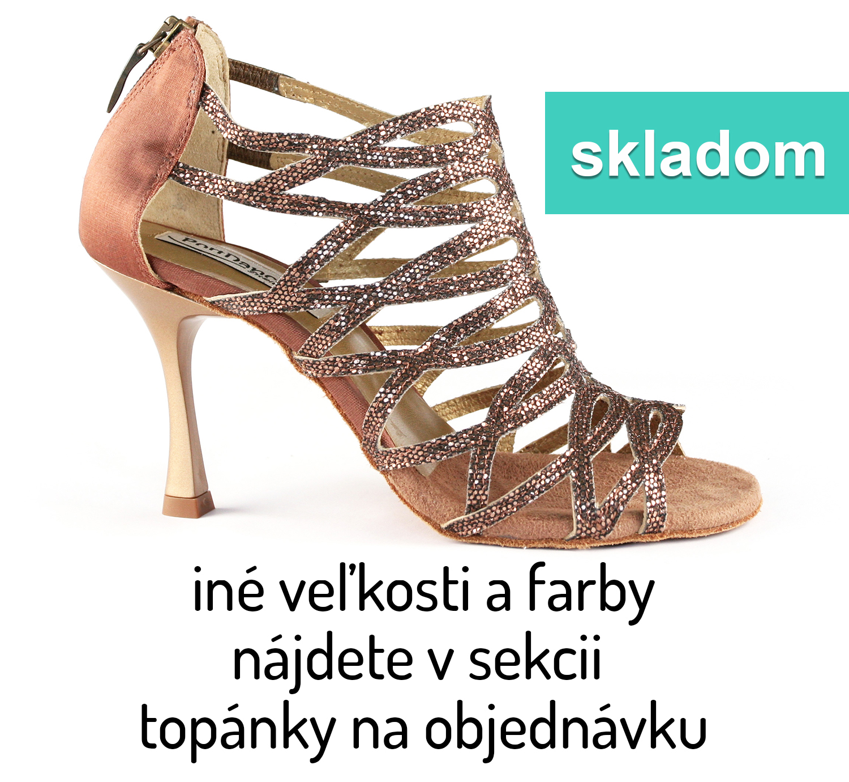 dc82d15cac74 Tanečné topánky PORTDANCE - PD803 bronzové is Pro Premium empty