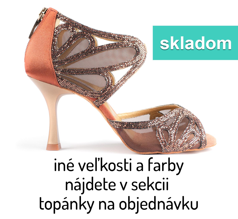 b01628f88aa64 Tanečné topánky PORTDANCE - PD808 is Pro bronzové empty