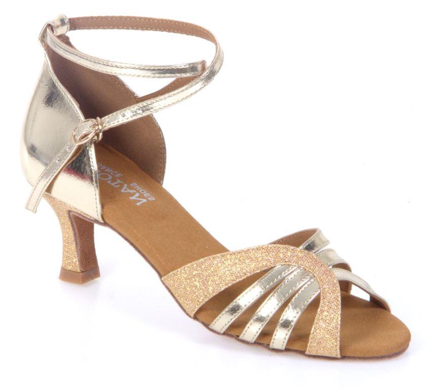 f84df5a4f1f0 Dámske tanečné topánky Botan BL-14S zlaté empty