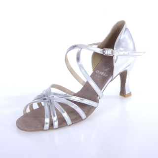 7af6095de6ea8 Tanečné topánky ARTIS - DL-2 is strieborné 7 cm flare empty